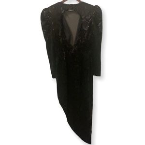 80's Renko Velvetty Dress Made in Italy